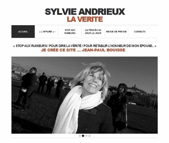 imprim écran site Affaire Sylvie Andrieux