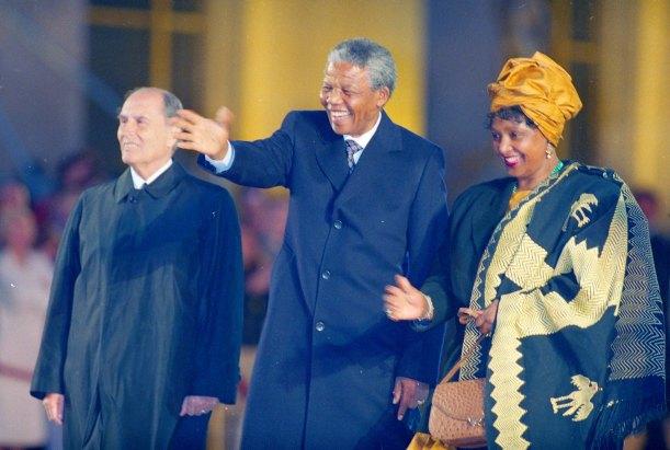 Mandela et Mitterrand